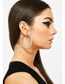 Money Showers Rhinestone Hoops by Fame Accessories
