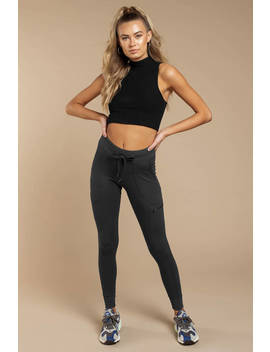 Lounge Under Charcoal Skinny Jogger Leggings by Tobi