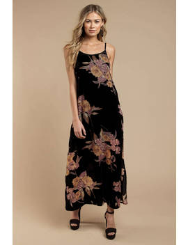Band Of Gypsies Mallorey Black Floral Print Dress by Tobi