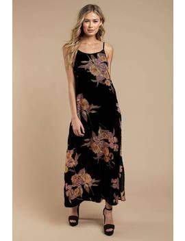 Band Of Gypsies Mallorey Black Floral Print Dress by Tobi