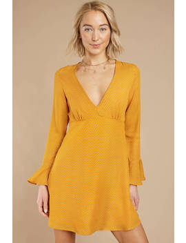 Run To You Yellow Skater Dress by Tobi