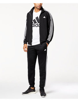 Men's Essential Tricot Track Jacket & Pants by Adidas