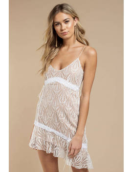 For Love And Lemons Bright Lights White Lace Mini Dress by Tobi