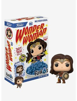 Funko Dc Comics Wonder Woman Funk O's Cereal With Pocket Pop! Wonder Woman Cereal Hot Topic Exclusive by Hot Topic