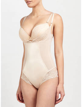 John Lewis & Partners Roxanne Lace Control Body, Nude by John Lewis & Partners