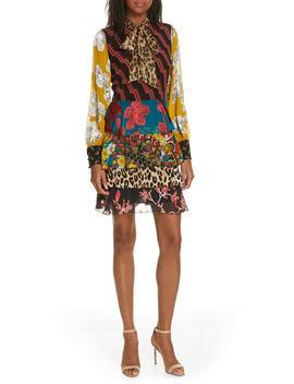 Dasha Ruffle Tiered Dress by Alice + Olivia