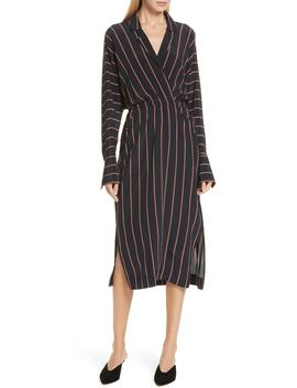 Nico Stripe Silk Shirtdress by A.L.C.