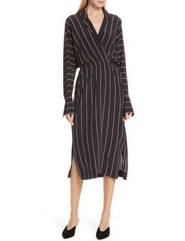 Nico Stripe Silk Shirtdress by A.L.C.