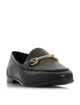 Dune   Black Leather 'guiltt' Loafers by Dune