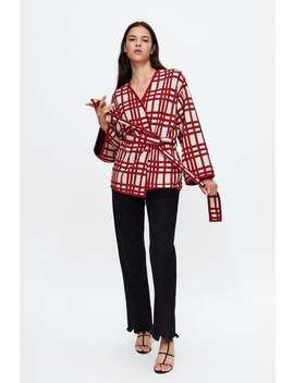 Kimono A Quadri  Visualizza Tutto Maglieria Donna Saldi by Zara