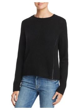Zip Detail Donegal Cashmere Sweater   100 Percents Exclusive by Aqua Cashmere