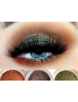 Gypsy Trio   Get This Look! All Natural, Vegan Eyeshadow And Eyeliner Makeup. Cruelty Free Cosmetics. by Etsy