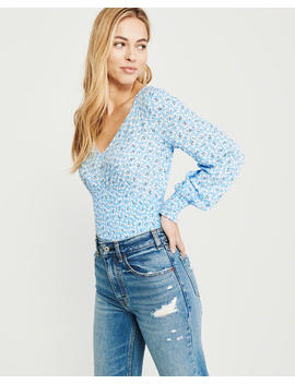 Smocked Waist Blouse by Abercrombie & Fitch