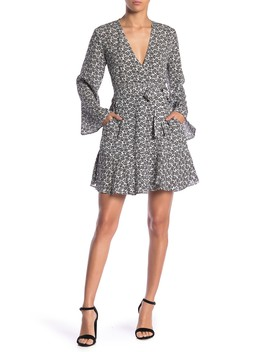 Whitney Bell Sleeve Silk Wrap Dress by A.L.C.