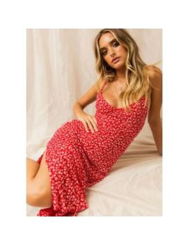 Nerys Maxi Dress   Red Floral by Peppermayo