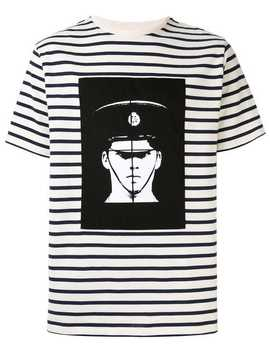 Police Print Stripes T Shirt by Jw Anderson