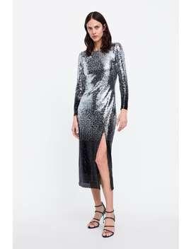 Paillettenkleid Im Farbverlauf  Alles Anzeigen Kleider Damen Sale by Zara