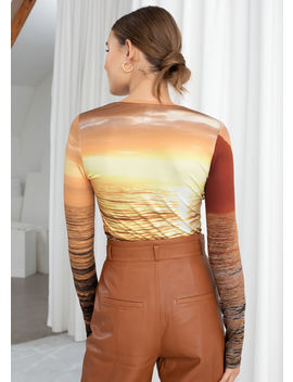 Long Sleeve Sunset Top by & Other Stories