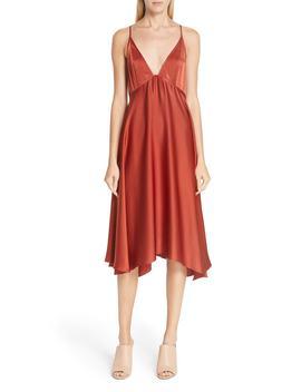 Sloane Satin Babydoll Dress by A.L.C.