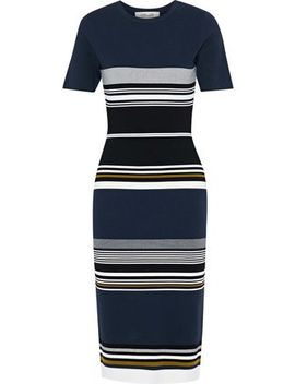 Striped Stretch Knit Dress by Diane Von Furstenberg