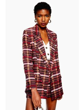 Brushed Check Blazer by Topshop