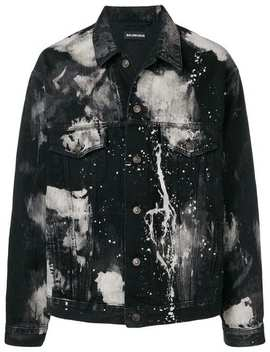 Paint Stain Denim Jacket by Balenciaga