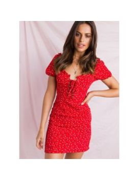 Impulse Dress   Red Floral by Peppermayo