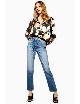 Tall Mid Blue Editor Jeans by Topshop