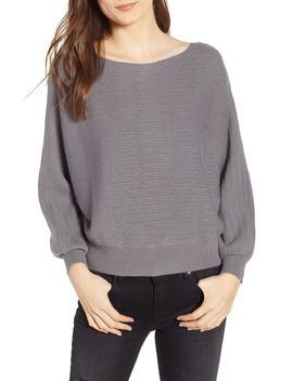 Dolman Boat Neck Sweater by Cotton Emporium