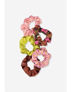 5 Pk Scrunchies by Cotton On