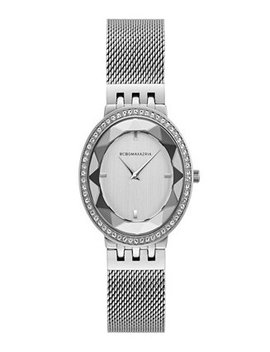 Bcbg Max Azria Ladies Silver Tone Mesh Bracelet Watch With Silver Dial, 35 Mm by Bcbgmaxazria