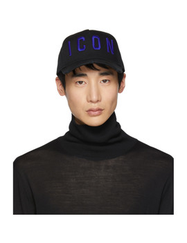 Black & Blue 'icon' Baseball Cap by Dsquared2