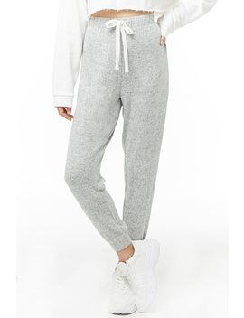 Marled Knit Joggers by Forever 21