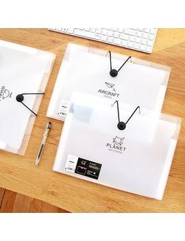 Cute Essentials   A4 Transparent Document Pouch by Cute Essentials