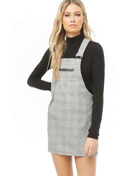 Glen Check Mini Overall Dress by Forever 21