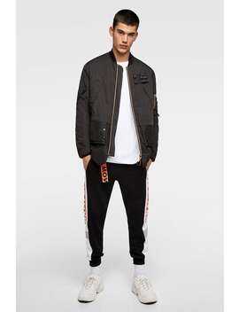 Oversized Technical Bomber Jacket  View All Jackets Man Sale by Zara