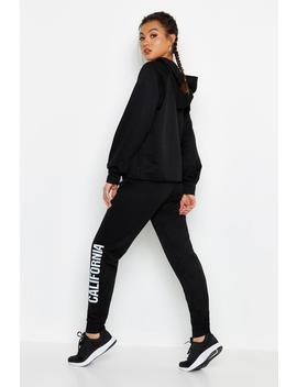 Fit Cropped California Tracksuit by Boohoo