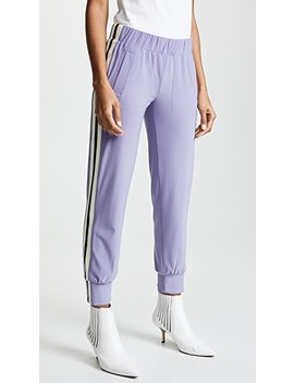 Side Stripe Joggers by Norma Kamali