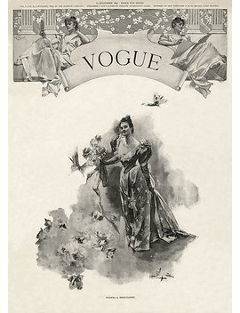 The First Issue Of Vogue / Cover Magazine by Goldclaw