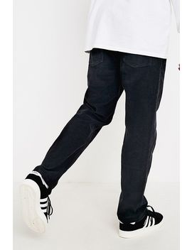 Bdg Dad Washed Black Needle Corduroy Trousers by Bdg