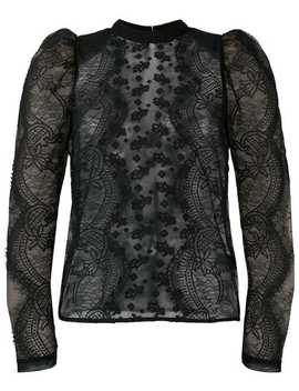 Puff Sleeved Lace Blouse by Self Portrait