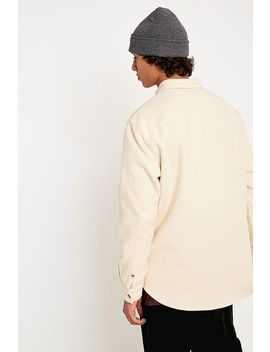 Uo Ecru Brushed Twill Long Sleeve Shirt by Urban Outfitters