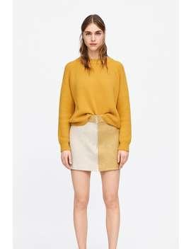 Minissaia Com Efeito Suede Color Block  Última Semanamulher New Collection by Zara