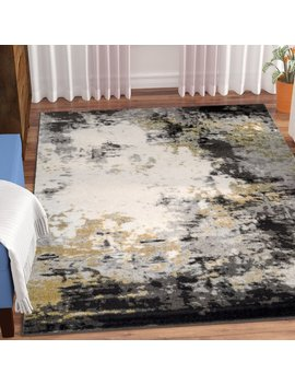 Wrought Studio Shuff Charcoal/Mustard Yellow/Gray Area Rug & Reviews by Wrought Studio