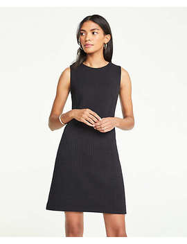 Petite Waffle Textured Knit Shift Dress by Ann Taylor