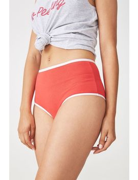 Cotton Flat Elastic High Waist Brasiliano Brief by Cotton On