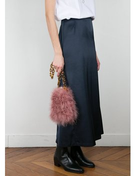 Pink Feather Chain Link Bag by The Frankie Shop