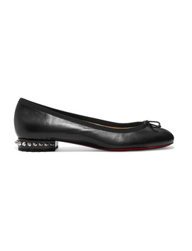 La Massine Spiked Leather Ballet Flats by Christian Louboutin