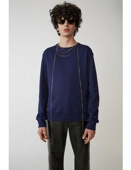 Regular Fit Sweatshirt Indigo Blue by Acne Studios