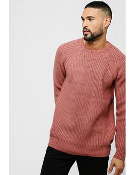 Raglan Sleeve Crew Neck Jumper by Boohoo